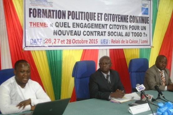 CNSC formation - Créer les conditions d'un nouveau contrat social au Togo: la CNSC s'y engage
