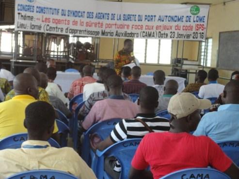 SYNASUPAL bon - Les agents de sûreté  du  Port Autonome de Lomé créent SYNASUPAL !