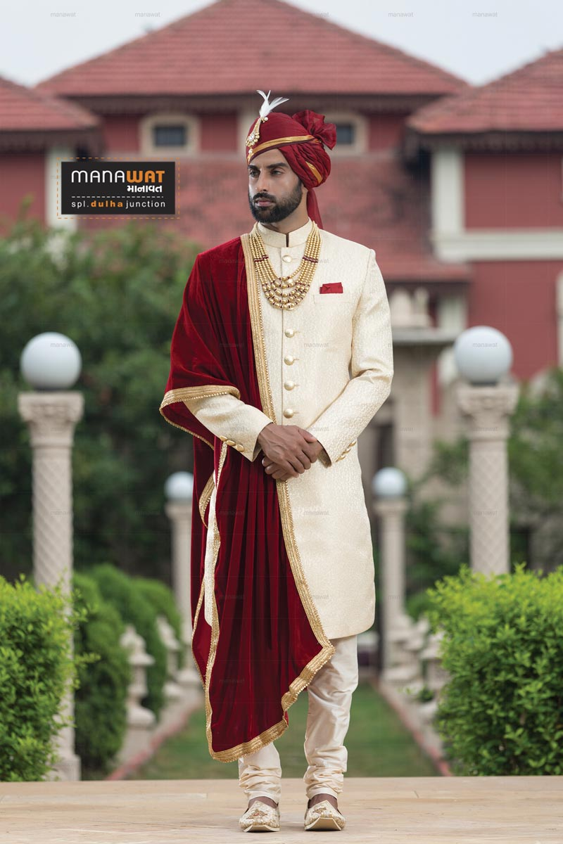 Manawat Spl Dulha Junction Wedding Sherwani In Ahmedabad