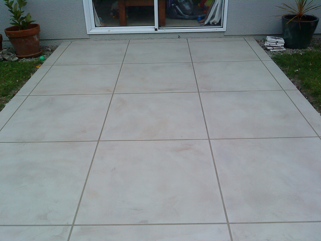 Outdoor Concrete Tile Flooring