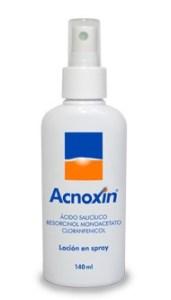 Acnoxin Spray. Presentación líquida con vaporizador