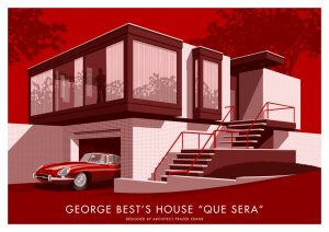 Fine art print of George Best's House by Stephen Millership.