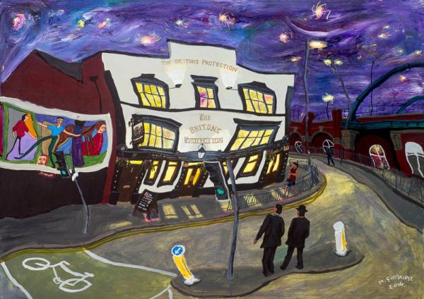 Print of the britons protection iconic pub in Manchester by local artist Michael Gutteridge