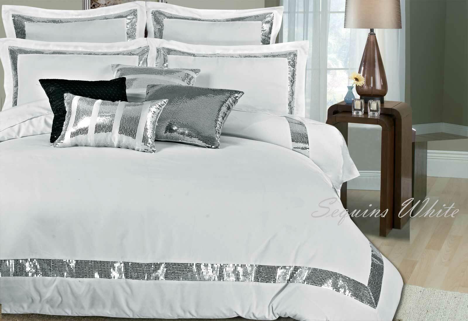 Sequins White Duvet / quilt Cover Set