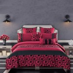 Luxton Afton Red Black Quilt Cover Set Manchester Direct