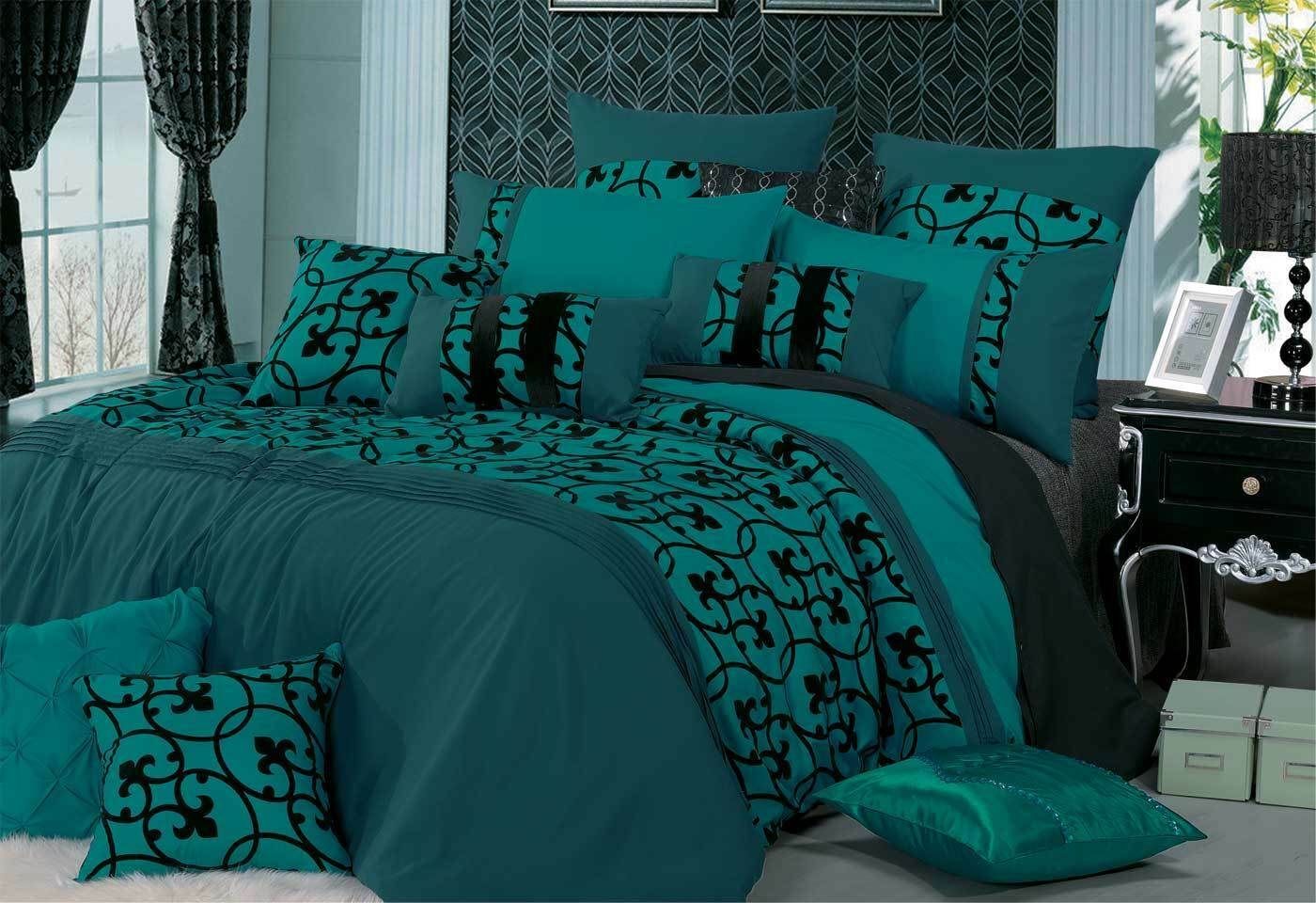 teal curtains for living room glass wall shelves lyde quilt cover set by luxton warehouse sale at ...
