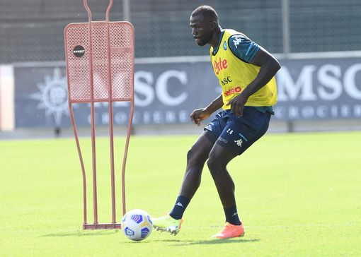 NAPLES, ITALY - SEPTEMBER 15: Kalidou Koulibaly of Napoli during SSC Napoli Training Camp on September 15, 2020 in Naples, Italy. (Photo by SSC NAPOLI/SSC NAPOLI via Getty Images)