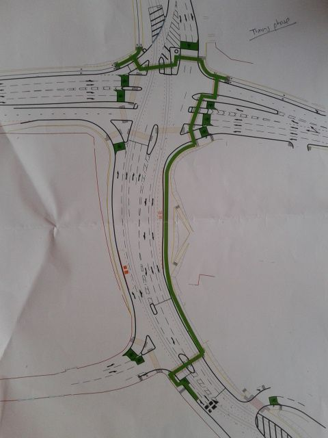 Southmoor - Atrincham Road junction and Metrolink route