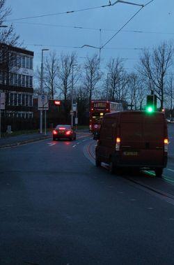 Spot the cycle lane!