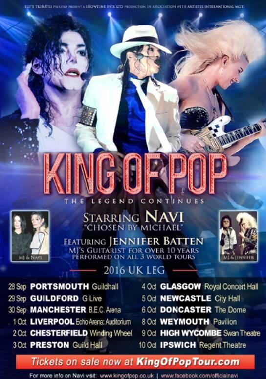 KING OF POP Starring Navi Feat Jennifer Batten MJs Guitarist Of 10 Years Play MANCHESTER