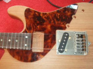 Pickguard in place - and it fits!