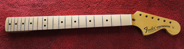 Stratocaster neck fretted and lacquered