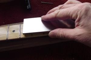 Using a diamond-coated steel leveling file