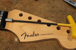 Extracting the Fender Stratocaster truss rod nut