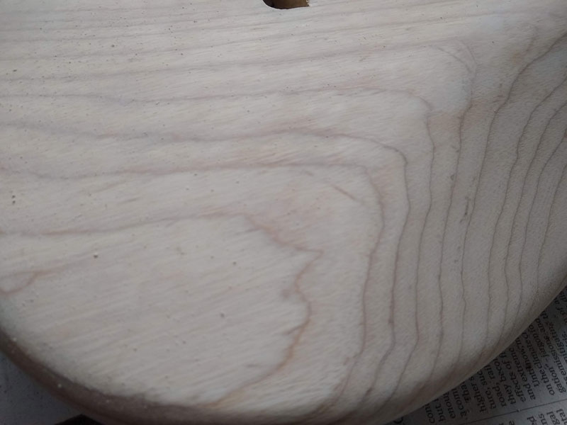 How it should look after grain filling but before sanding
