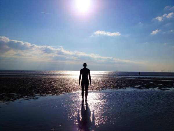 Crosby Beach in Liverpool