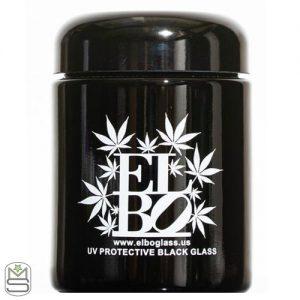 Elbo Glass – UV Protective Black Glass Jar
