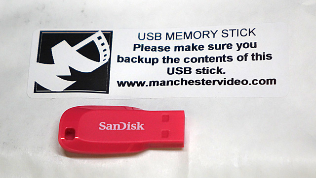 video USB backup message