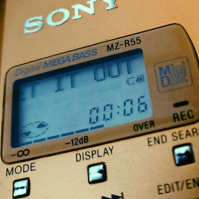 MiniDisc player by Sony