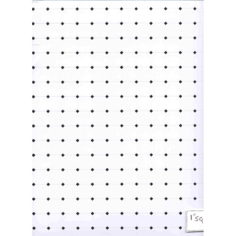black white octagon plastic tile