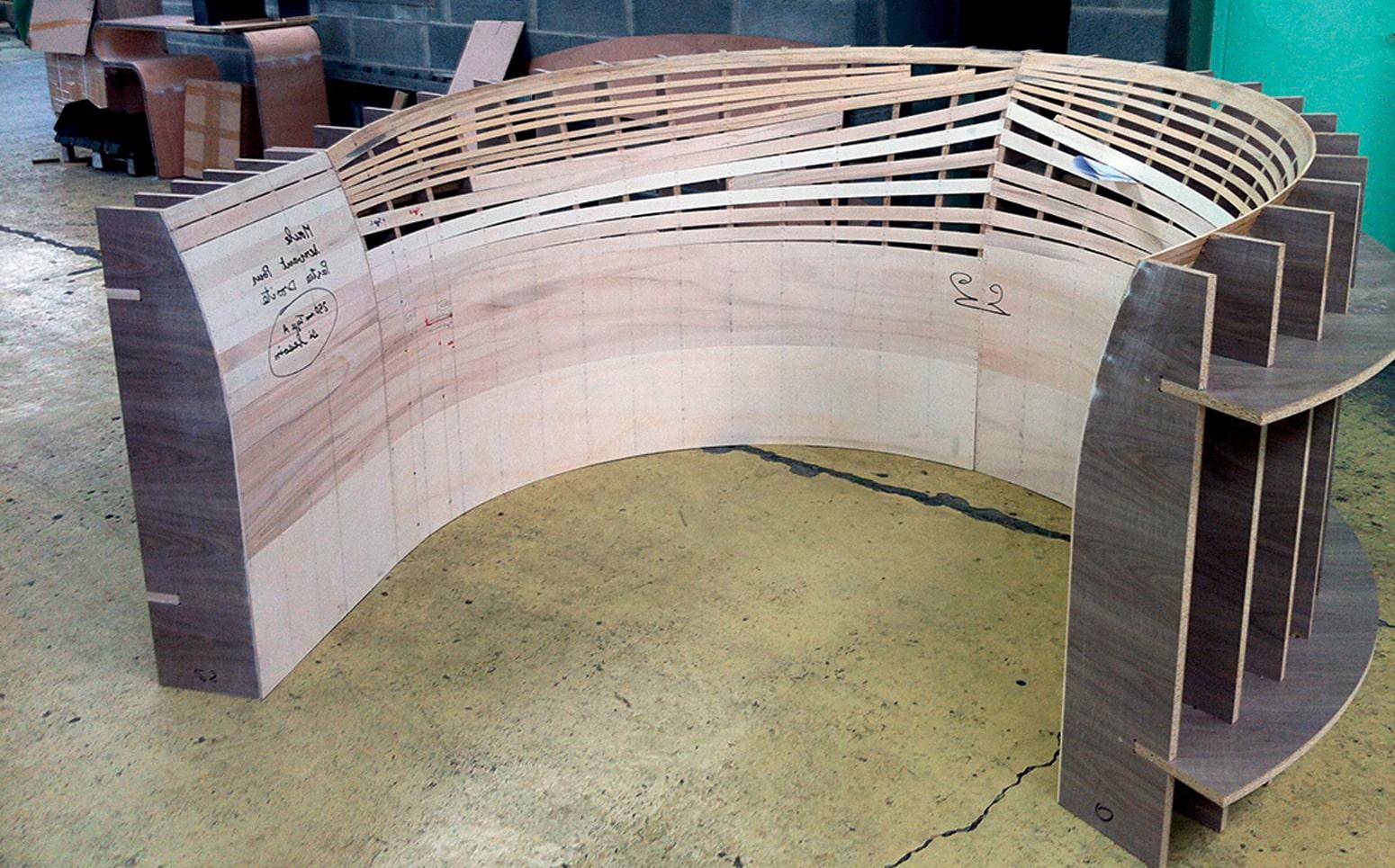 structure bois pour comptoir sur mesure