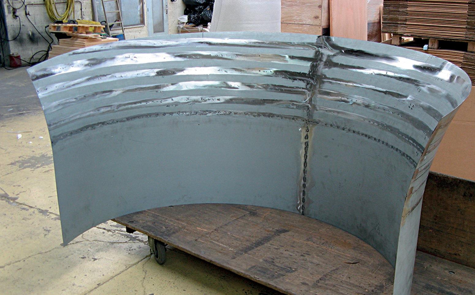structure metal pour comptoir sur mesure