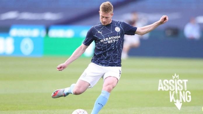 De Bruyne equals Henry's Premier League assist record