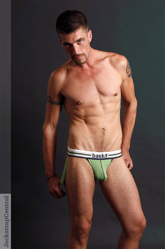 Jockstrap Central Model Jack in Baskit Ribbed Jockstrap - Green