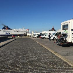 Aire in Calais MandA Tours Escorted Motorhome Tours P&O ferries