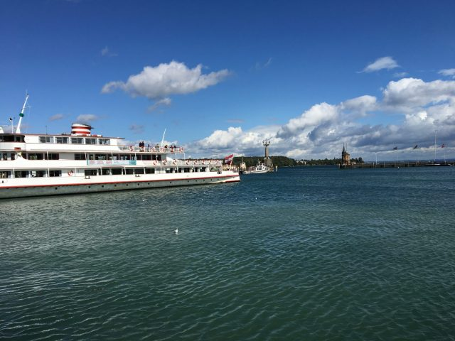 Port of Konstanz at lake Constance