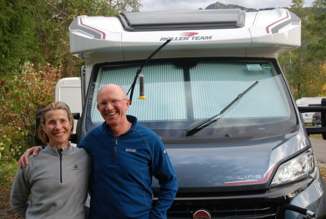 Customers Janet & Richard during our escorted motorhome tour Germany's Romantic Road 2017
