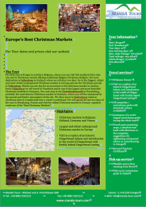 First Page Europe's Best Christmas Markets 2019 Tour Flyer