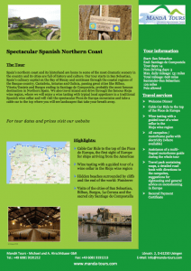 First Page Spectacular Spanish Northern Coast 2019 Tour Flyer