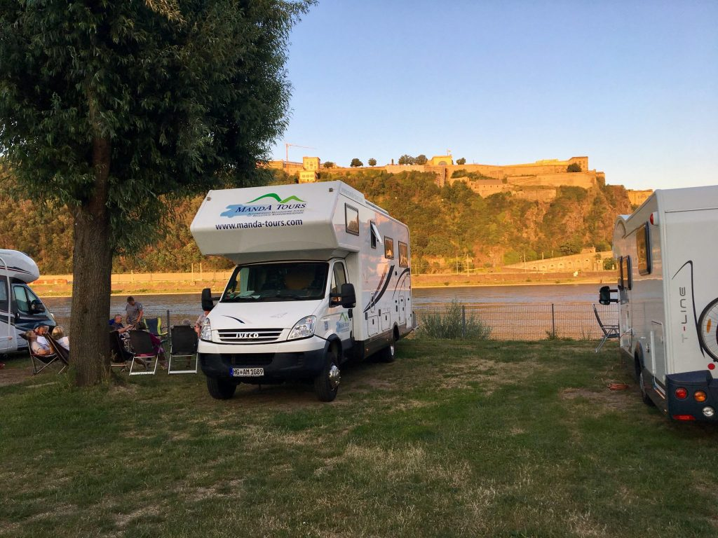 Evening campsite in Koblenz deutsches Eck 2019