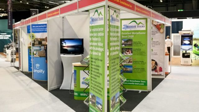 Stand at Motorhome & Caravan Show October 2020
