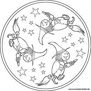 Mandalas zu Halloween - Kostenlose Ausmalbilder für Kinder