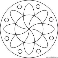 Einfache Blumen Mandala- Window Color Vorlage fr Kinder
