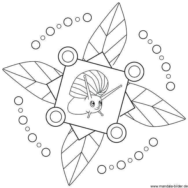 Herbst Mandala zum Ausdrucken und Ausmalen