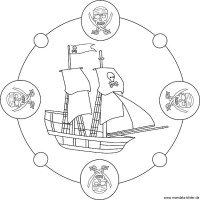 piratenschiff malvorlage einfach zum ausdruck   Coloring ...