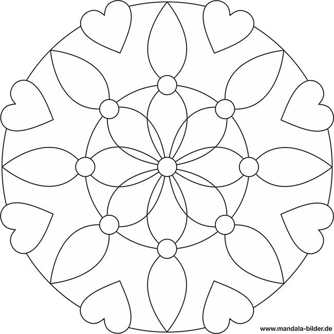 Ausmalbilder für Senioren - gratis Mandala Vorlage