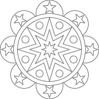 Sonne, Mond und Sterne - Mandalas fr Kinder und Erwachsene