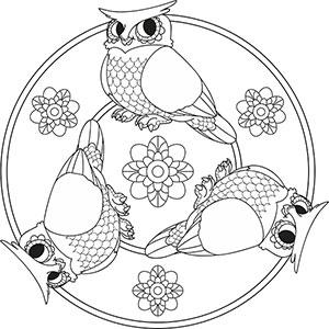 Tier Mandalas  Ausmalbilder mit Tieren zum Ausmalen fr