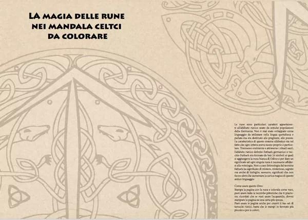mandala rune e simboli celtici da colorare pagina di introduzione ai mandala