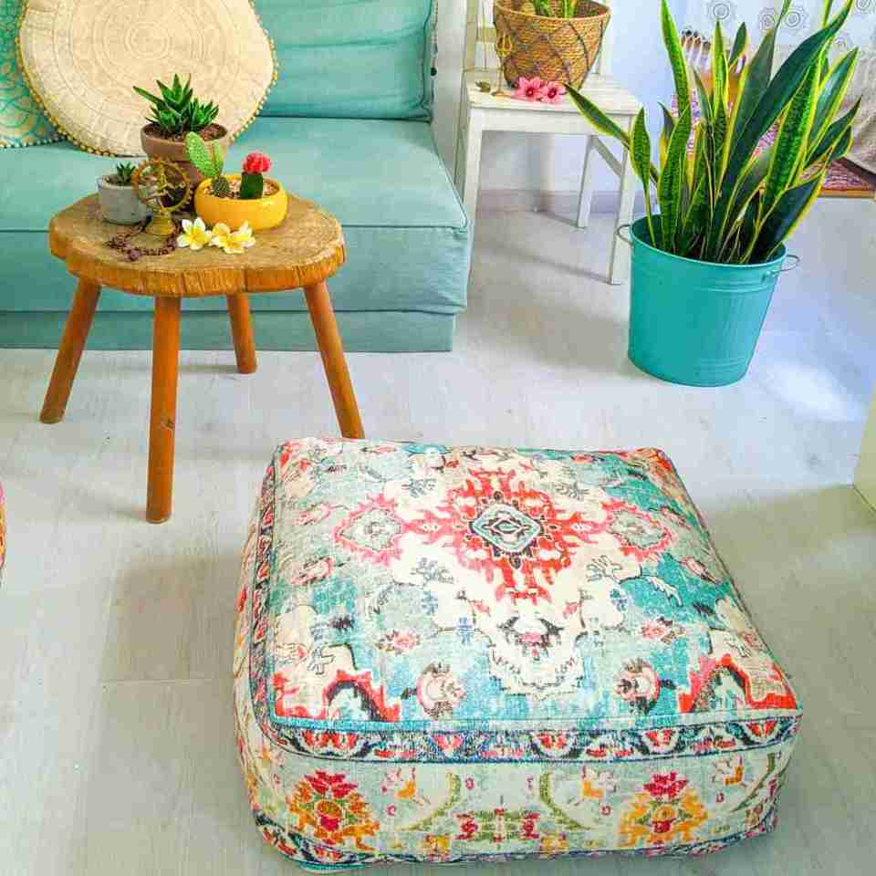 Blhemian Pouf Floor Pillow Cushion 2