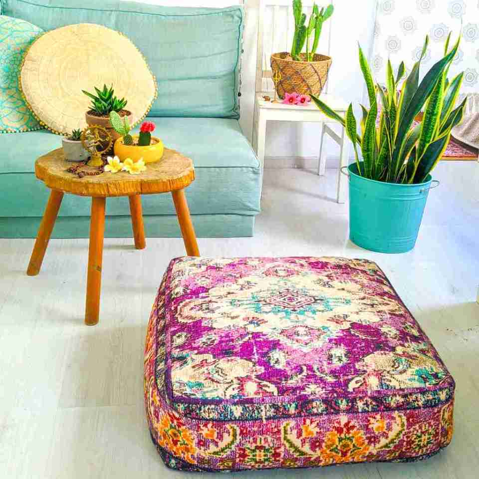 Blhemian Pouf Floor Pillow Cushion 7