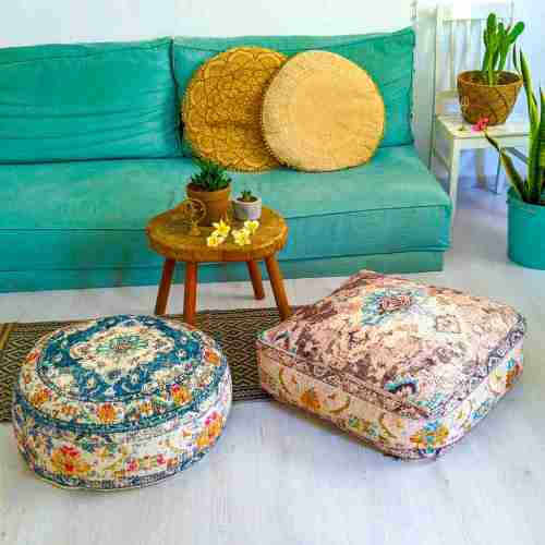 Bohemian Decor Floor Cushion Pouf Carpet Floor Pillow Boho Chic Large Living Room Bedroom chidren room 12