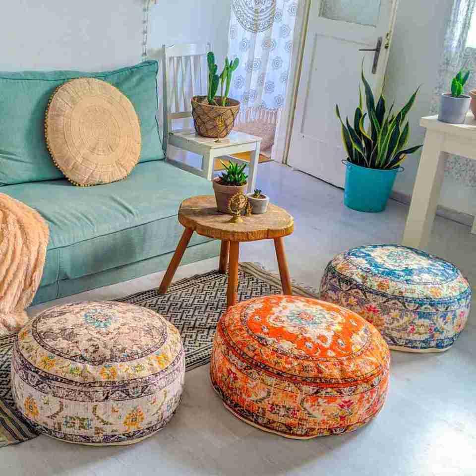 Bohemian Decor Floor Cushion Pouf Carpet Floor Pillow Boho Chic Large Living Room Bedroom chidren room 15