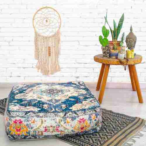 Bohemian Decor Floor Cushion Pouf Carpet Floor Pillow Boho Chic Large Living Room Bedroom chidren room 23