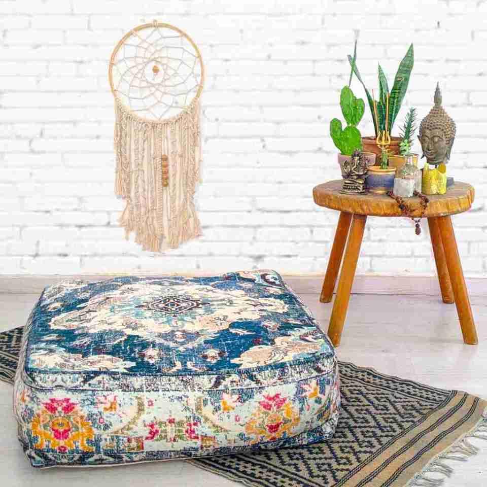 Bohemian Decor Floor Cushion Pouf Carpet Floor Pillow Boho Chic Large Living Room Bedroom chidren room 23
