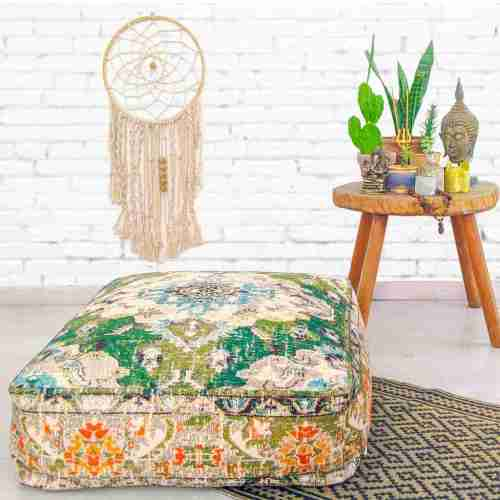 Bohemian Decor Floor Cushion Pouf Carpet Floor Pillow Boho Chic Large Living Room Bedroom chidren room 24
